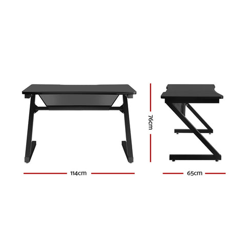 Image of Artiss Gaming Desk Carbon Fiber Style Study Office Computer Laptop Racer Table