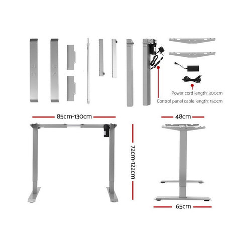 Image of Artiss Standing Desk Motorised Height Adjustable Sit Stand Computer Table Office 120cm