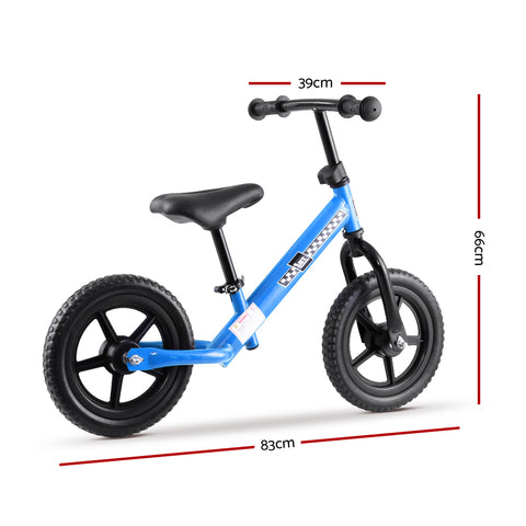 Kids Balance Bike Ride On Toys Puch Bicycle Wheels Toddler Baby 12 Bikes Blue""