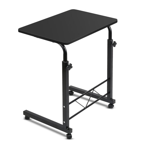Image of Portable Adjustable Wooden Latpop Stand - Black