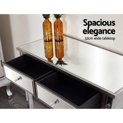 Image of Artiss Mirrored Furniture Dressing Console Hallway Hall Table Drawers Sidebaord