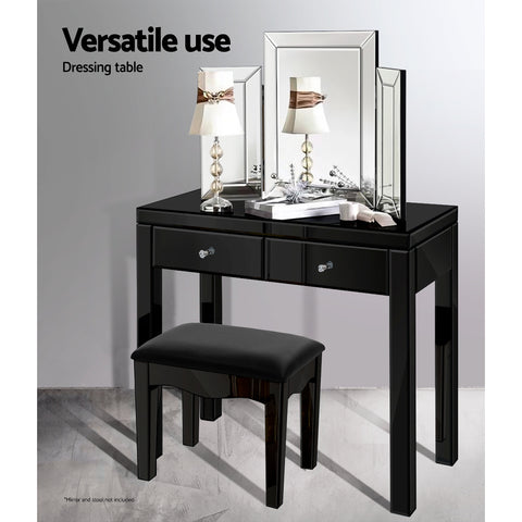 Image of Artiss Mirrored Furniture Console Table Hallway Hall Entry Dressing Side Drawers