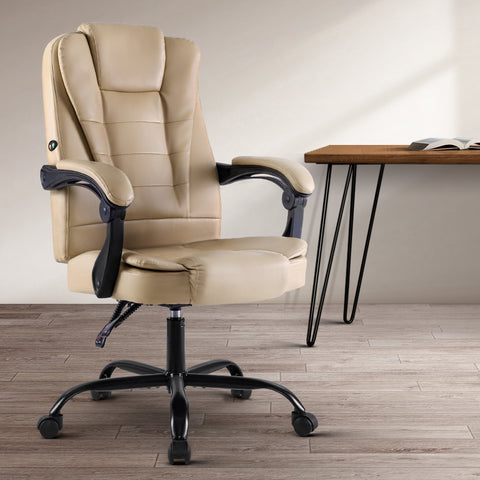 Image of Beige Massage Office Chair