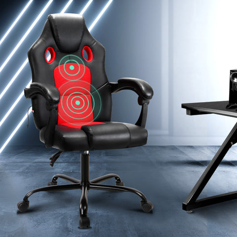Red Massage Office Chair