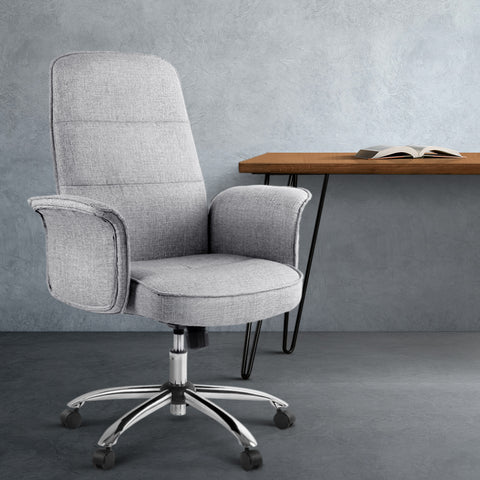 Image of Fabric Office Desk Chair - Grey