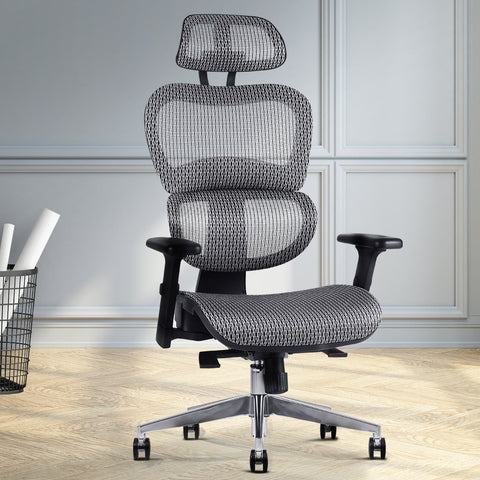 Image of Artiss Office Chair Computer Gaming Chair Mesh Net Seat Grey