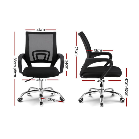 Image of Artiss Office Chair Gaming Chair Computer Mesh Chairs Executive Mid Back Black