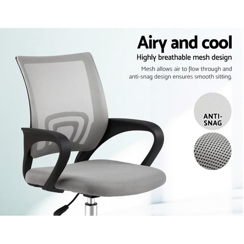 Image of Artiss Office Chair Gaming Chair Computer Mesh Chairs Executive Mid Back Grey