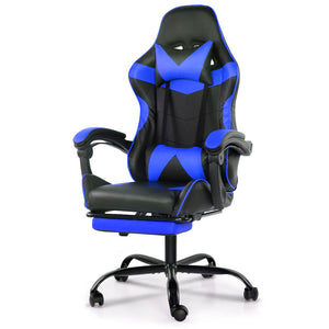 Artiss Gaming Office Chairs Computer Seating Racing Recliner Footrest Black Blue