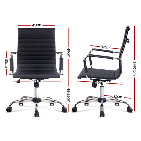 Image of Artiss Eamon Gaming Office Chair Computer Desk Chairs Home Work Study Black Mid Back