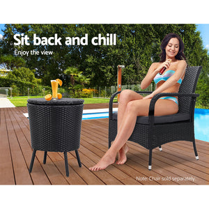 Gardeon Bar Table Outdoor Setting Cooler Ice Bucket Storage Box Party Patio Coffee Pool