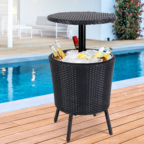 Image of Gardeon Bar Table Outdoor Setting Cooler Ice Bucket Storage Box Party Patio Coffee Pool