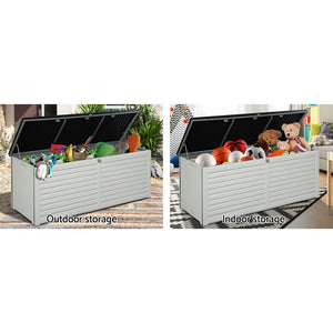 Gardeon Outdoor Storage Box Bench Seat Toy Tool Sheds 390L