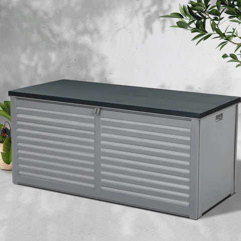 Image of Gardeon Outdoor Storage Box Bench Seat Garden Sheds Chest 490L