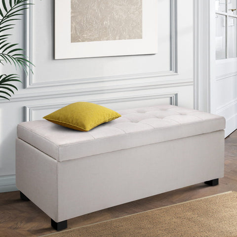 Image of Large Ottoman Beige