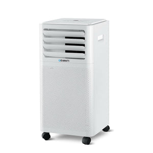 Devanti Portable Air Conditioner Cooling Mobile Fan Cooler Dehumidifier White 2000W