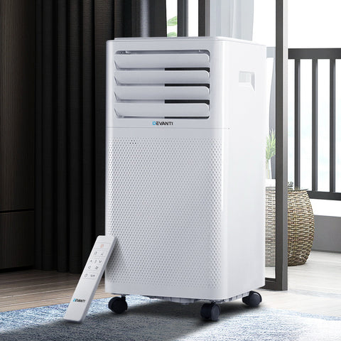 Image of Devanti Portable Air Conditioner Cooling Mobile Fan Cooler Dehumidifier White 2000W