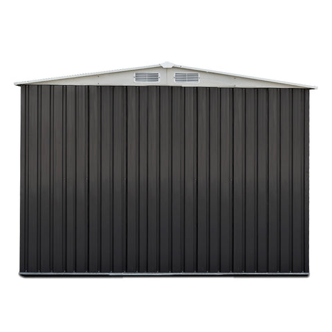 Image of Giantz 2.05 x 2.57m Steel Base Garden Shed - Grey