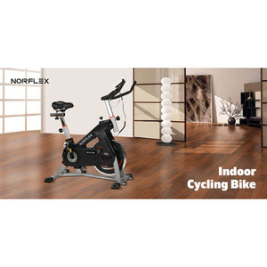 Spin Bike Flywheel NORFLEX Commercial Gym Exercise Home Workout Bike Fitness Silver