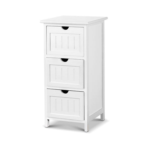 Image of Artiss Bedside Table - White