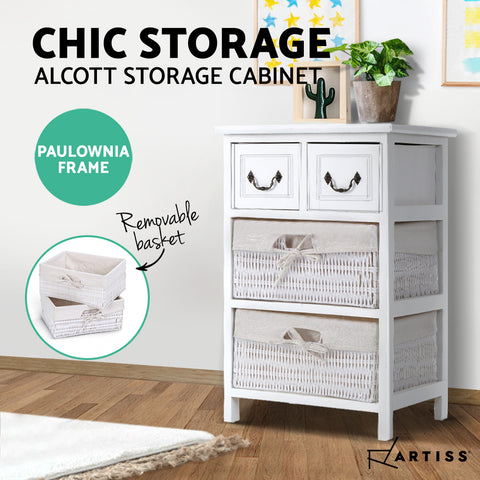 Image of Artiss Storage Cabinet Dresser Chest of Drawers Bedside Table Bathroom Lamp Side