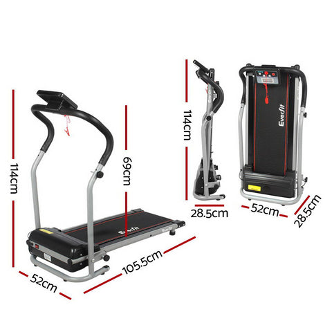 Everfit Home Gym Electric Treadmill AfterPay Available for Running Cardio Exercises - Black