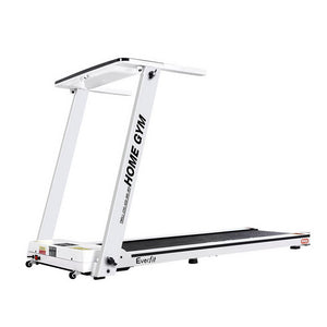 Everfit Electric Treadmill Home Gym Exercise Running Machine Fitness Equipment Compact Fully Foldable 420mm Belt White