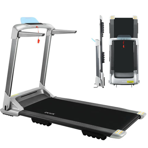 Image of OVICX Electric Treadmill Q2S Home Gym Exercise Machine Fitness Equipment Compact Full Foldable Silver