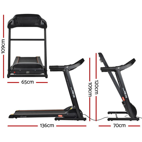 Image of Everfit Electric Treadmill 40cm Running Home Gym Fitness Machine Black