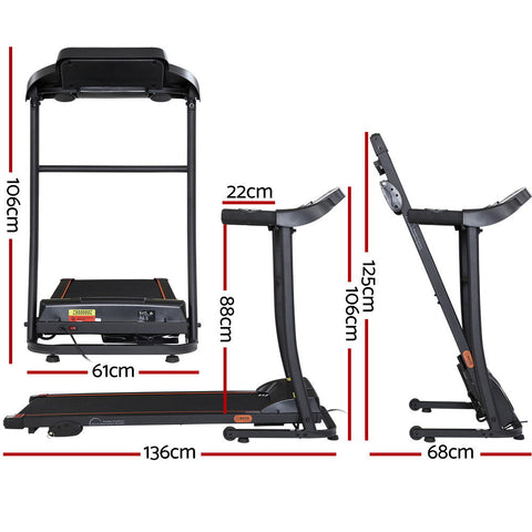 Image of Everfit Electric Treadmill Incline Home Gym Exercise Machine Fitness 400mm - 106cm x 136cm
