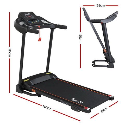 Image of Everfit Electric Treadmill Incline Home Gym Exercise Machine Fitness 400mm - 121cm x 140cm