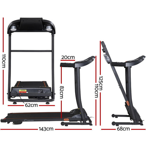 Image of Everfit Electric Treadmill Incline Home Gym Exercise Machine Fitness 400mm - 110cm x 143cm