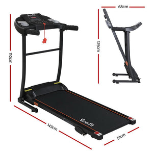 Everfit Electric Treadmill Incline Home Gym Exercise Machine Fitness 400mm - 110cm x 143cm