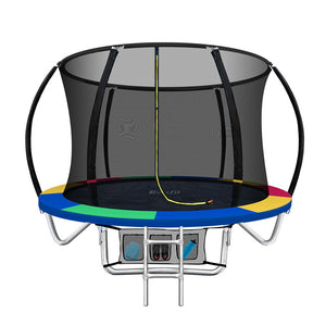 Everfit 8FT Trampoline Round Trampolines Kids Enclosure Safety Net Pad Outdoor Multi-coloured
