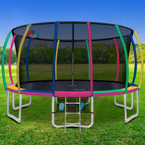 Image of trampoline with basketball