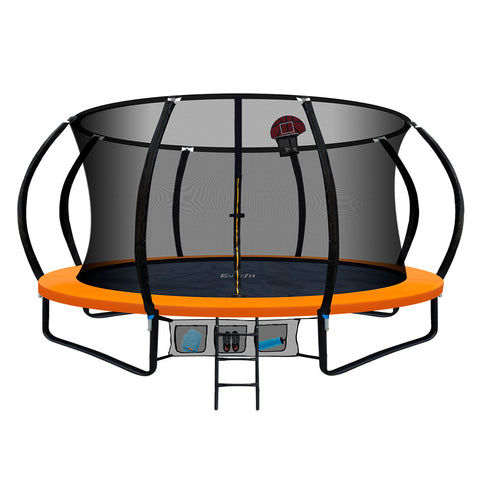Image of Everfit 16FT Trampoline With Basketball Hoop - Orange