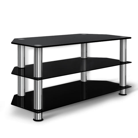 Image of Artiss TV Stand Entertainment Unit Media Cabinet Temptered Glass 3 Tiers