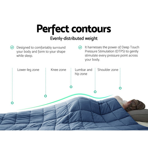 Image of Giselle Cooling Weighted Blanket Kids 2.3KG Gravity Blankets Relax Summer Blue