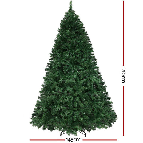 Image of Jingle Jollys Christmas Tree LED 2.1M 7FT Xmas Decorations Green Home Decor
