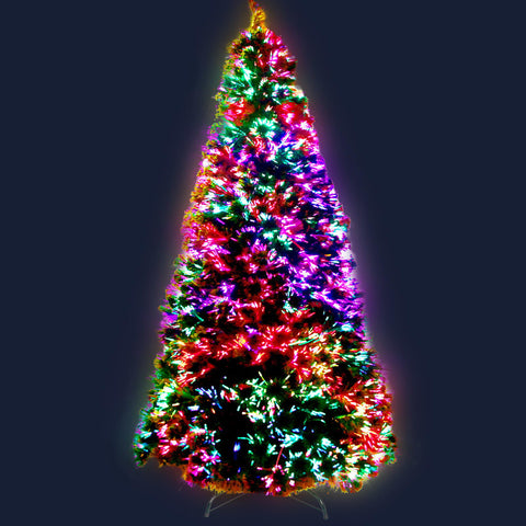 Image of Jingle Jollys 1.8M 6FT LED Christmas Tree Optic Fiber Xmas Multi Colour Lights