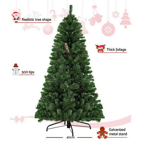 Image of Jingle Jollys 1.8M 6FT Christmas Tree Xmas Decoration Home Decor 500 Tips Green