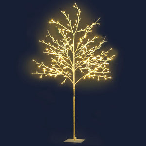 Jingle Jollys 1.5M LED Christmas Branch Tree 304 LED Xmas Warm White Optic Fiber