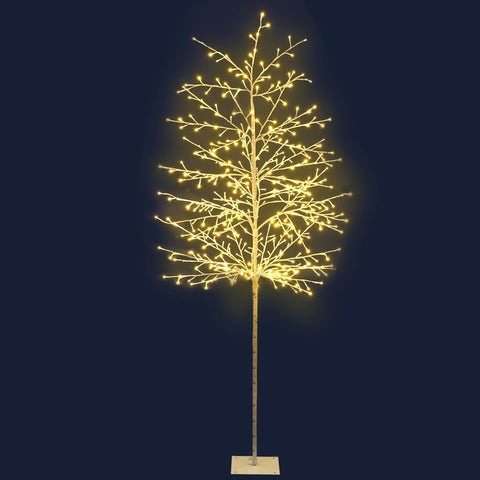 Image of Jingle Jollys 2.1M LED Christmas Branch Tree 480 LED Xmas Warm White Optic Fiber