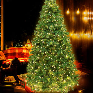 Jingle Jollys 1.8M 6FT Christmas Tree 874 LED Lights 874 Tips Warm White Green