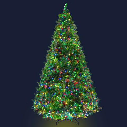 Image of Jingle Jollys Christmas Tree LED 2.4M 8FT Xmas Decorations Green Home Decor