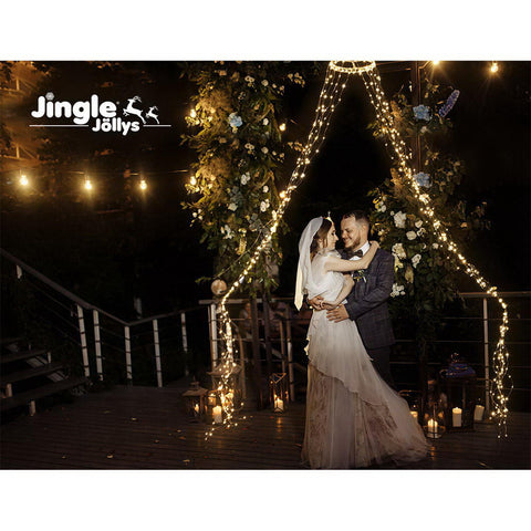 Image of Jingle Jollys Christmas Motif Lights String Waterfall Fairy 720 LED Wedding 3M