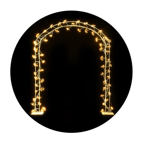 Image of Jingle Jollys Christmas Motif Lights LED Metal Archway Waterproof Outdoor Xmas