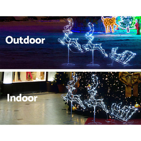 Image of Jingle Jollys Christmas Motif Lights LED Rope Reindeer Waterproof Outdoor Xmas