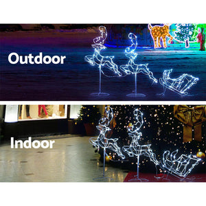 Jingle Jollys Christmas Motif Lights LED Rope Reindeer Waterproof Outdoor Xmas