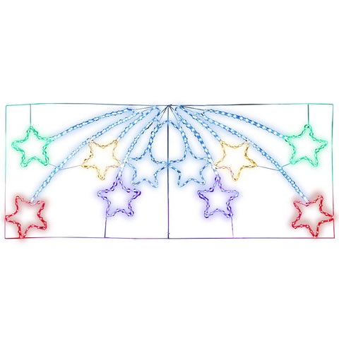 Image of Jingle Jollys Christmas Motif Lights LED Star Fall Light Waterproof Outdoor Xmas